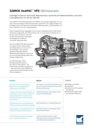 SABROE HeatPAC™ HPX-Wärmepumpen