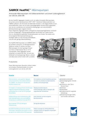 SABROE HeatPAC™-Wärmepumpen