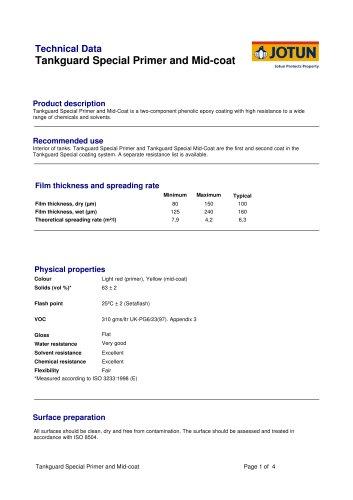 TDS - Tankguard Special Primer and Mid-coat - English