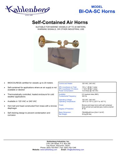 BI-0A-SC Industrial Air Horn