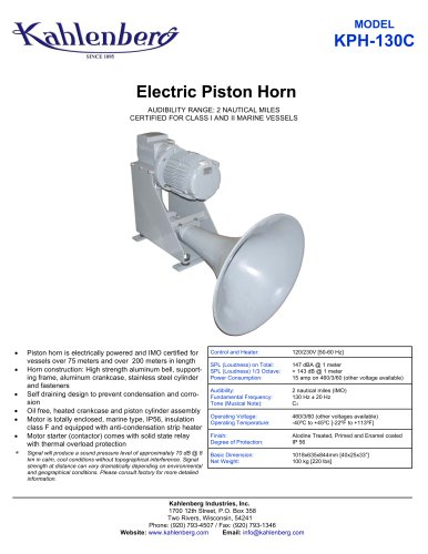 Electric Piston Horn