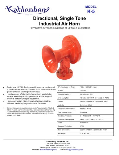K-5 Industrial Air Horn