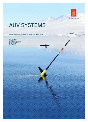 AUV systems for marine research applications