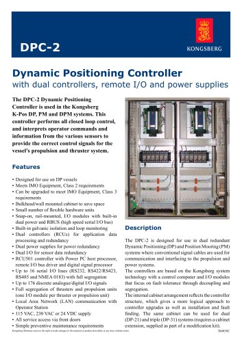 triple dynamic positioning system (DPS) for ships K-POS DP-31