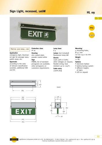 HL 09 Sign Light