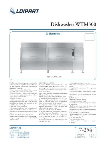 Dishwasher WTM300EA