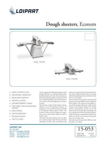 Dough sheeters, Econom