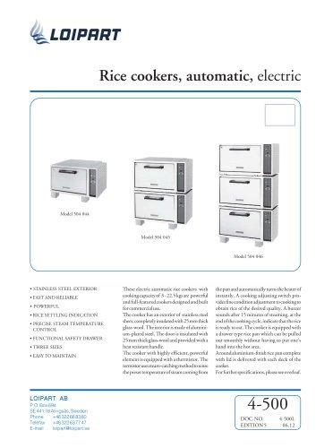 Marine El Rice Cooker (SFRC-54F)