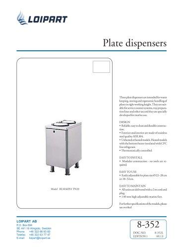 Plate Dispenser, unheated