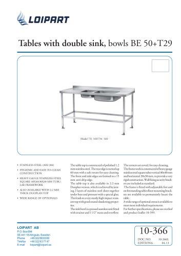 S/S Double Sink Unit BE-50/T-29