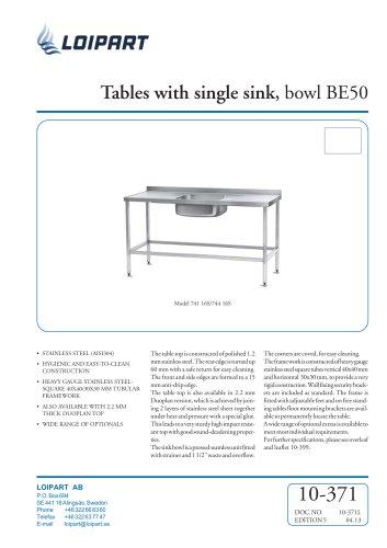 S/S Single Sink Unit BE-50