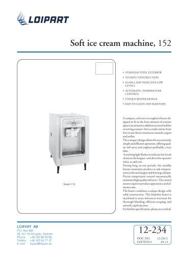 Soft Ice Cream Machine Taylor 152