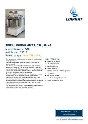 Spiral Dough Mixer L15019