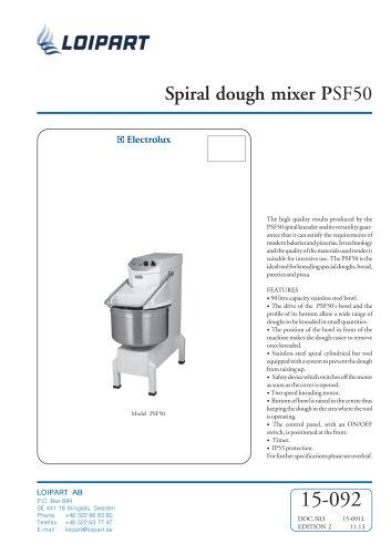 Spiral dough mixer PSF50