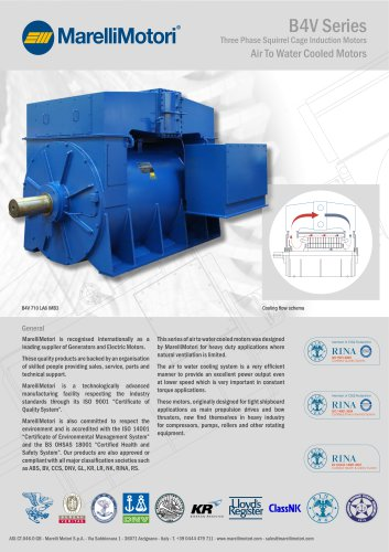 Air to Water Cooled Motors