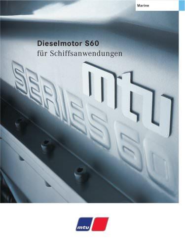 MTU Dieselmotor S60 für Schiffsanwendungen