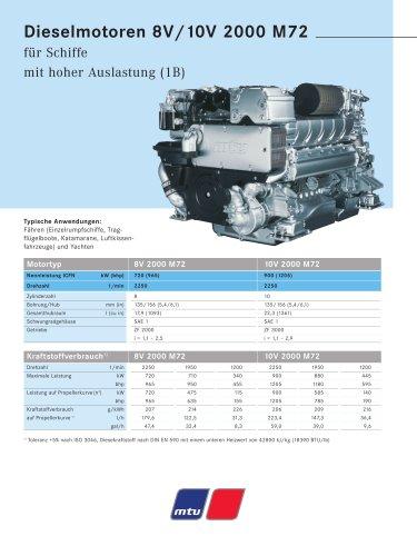 MTU Dieselmotoren 8V/10V 2000 M72 für Schiffe mit hoher Auslastung (1B)