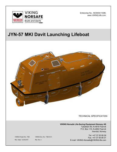JYN-57 MKI Davit Launching Lifeboat