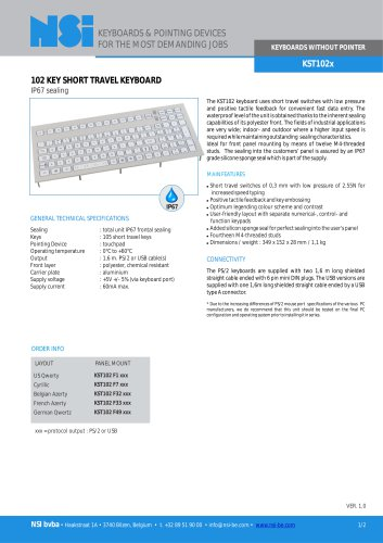 Compact short travel keyboard