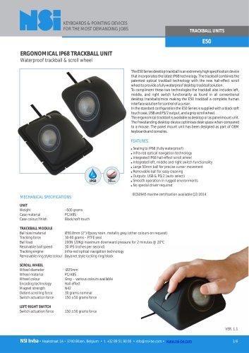E50 ergonomical trackball