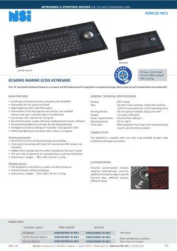 IEC60945 MARINE ECDIS KEYBOARD