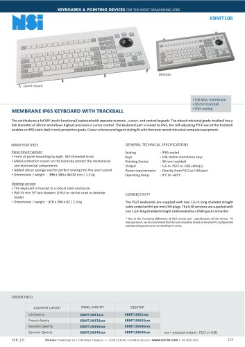 MEMBRANE IP65 KEYBOARD