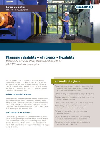 Planning reliability – efficiency – flexibility