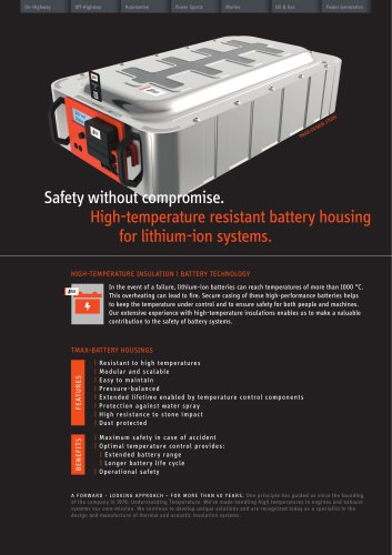 Battery Housings for lithium-ion systems