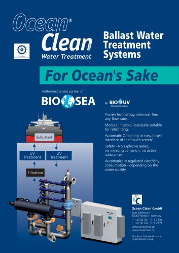 BIO SEA Ballast Water Treatment Systems