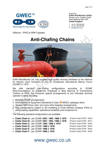 Anti-Chafing Chains