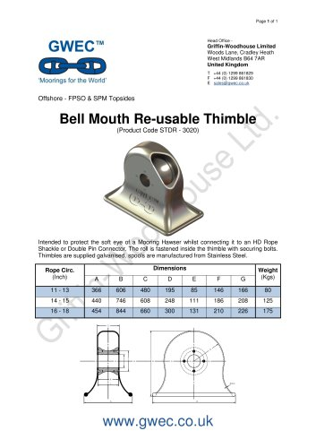 Bell Mouth Re-usable Thimble