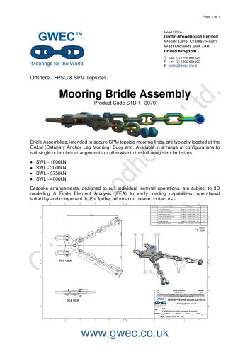 Mooring Bridle Assembly