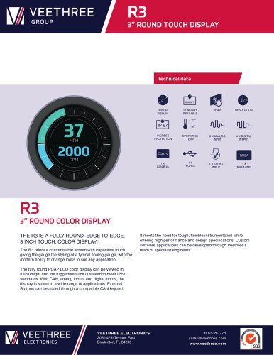 R3 - Round LCD Display