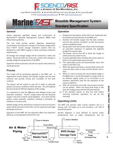Biosolids Management System Standard Specification