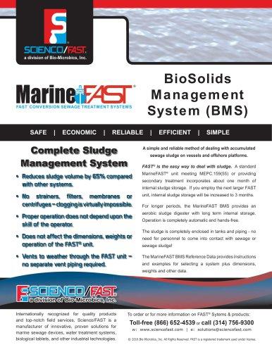 MarineFAST Biosolids Management System
