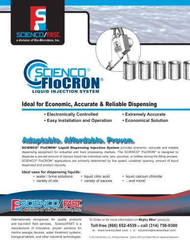 Scienco® FloCRON® Liquid Injection Brochure