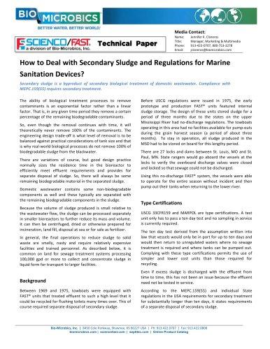 SciencoFAST Secondary Sludge MarineFAST BMS