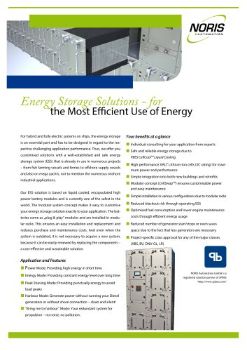 Energy storage solutions