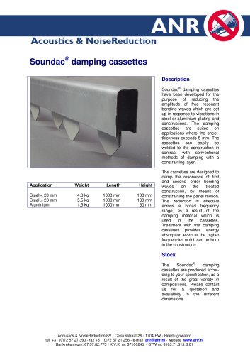Soundac Damping Cassettes