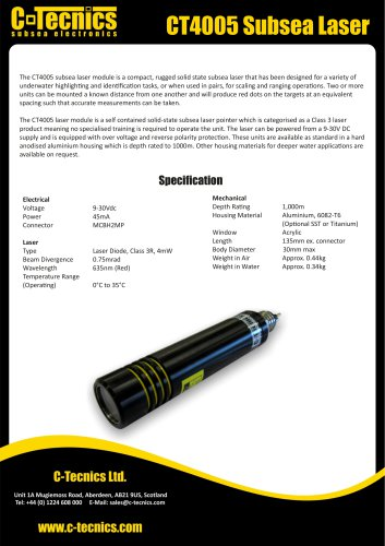 CT4005 Subsea Laser