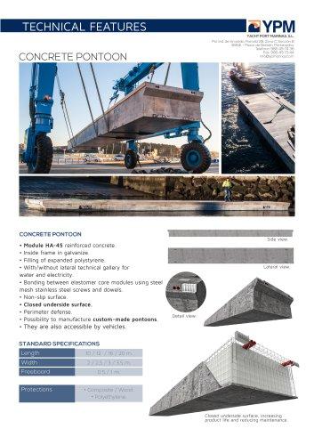 Floating concrete pontoon