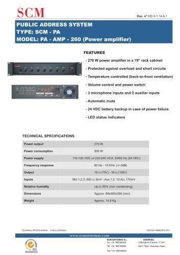 PA - AMP - 260