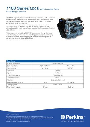 M92B Marine Specification Sheet