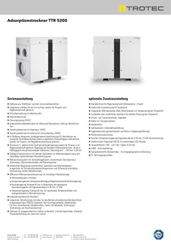 Adsorptionstrockner TTR 5200