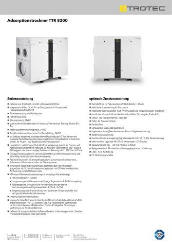 Adsorptionstrockner TTR 8200