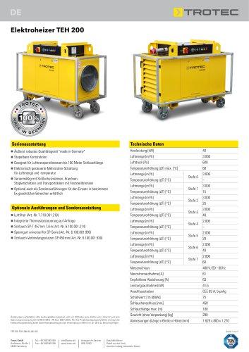 Elektroheizer TEH 200