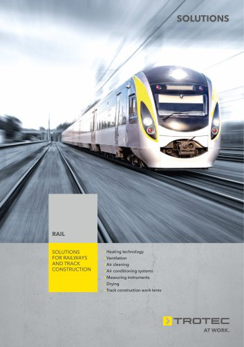 Solutions for railways  and track construction