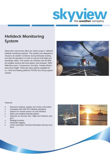 Helideck Monitoring System