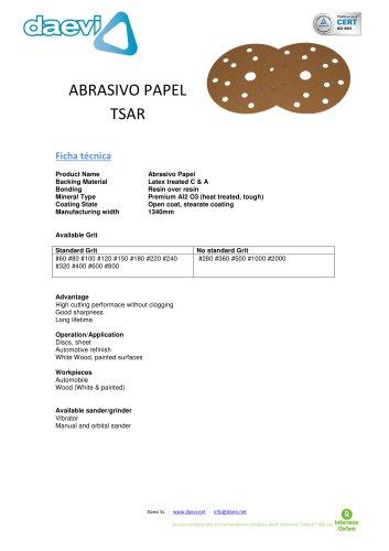 Abrasive paper disc TSAR