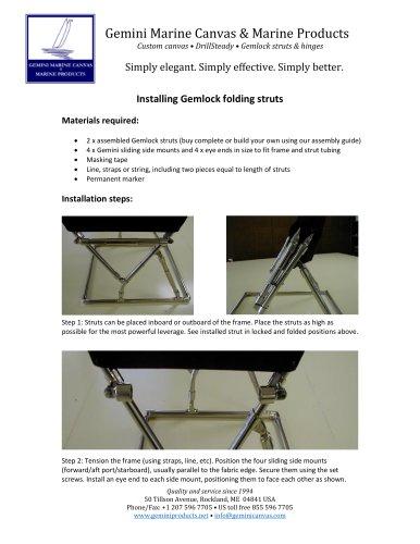 Gemlock folding strut installation guide